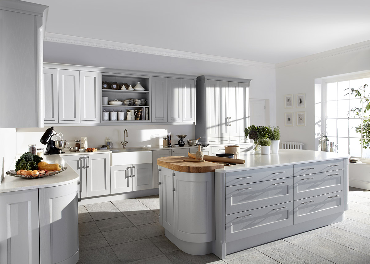 Painted Kitchens - Dove grey kitchen cabinets