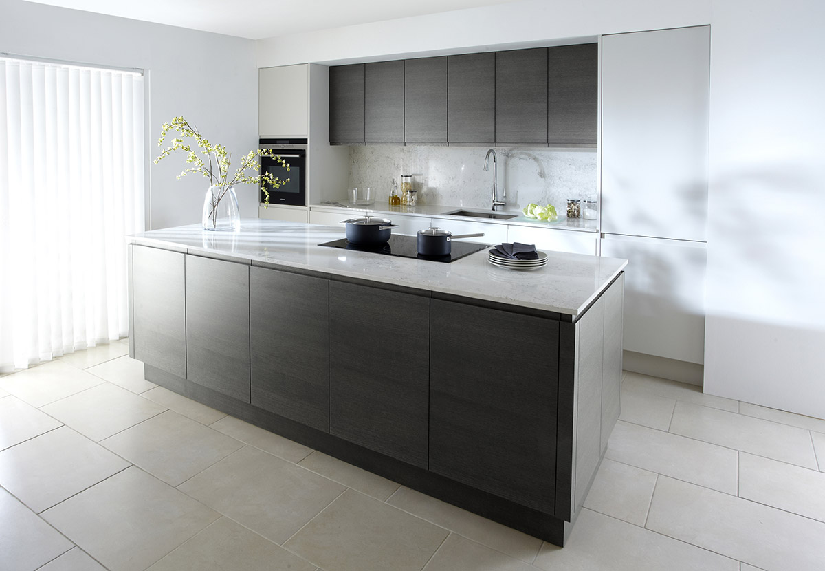 Handleless Kitchens County Kitchens - Dark grey matt kitchen