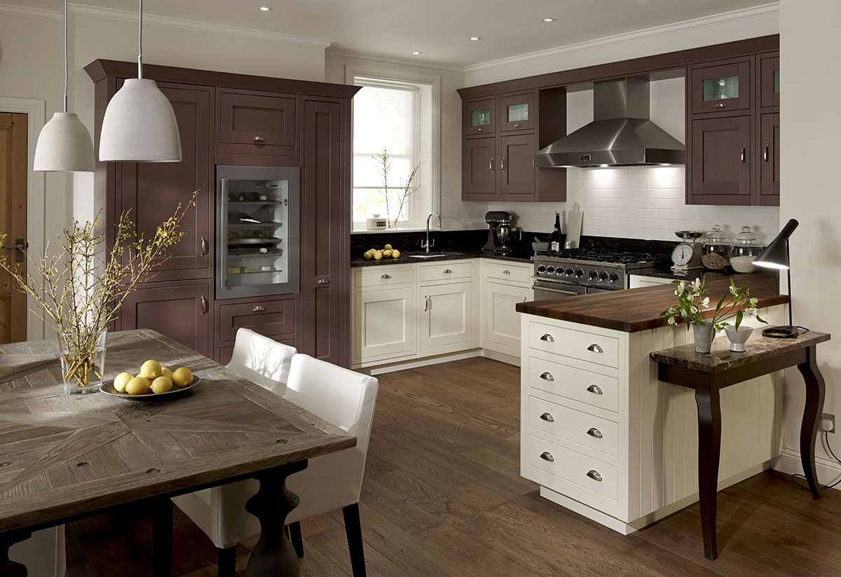 Milbourne In Frame Painted County Kitchens